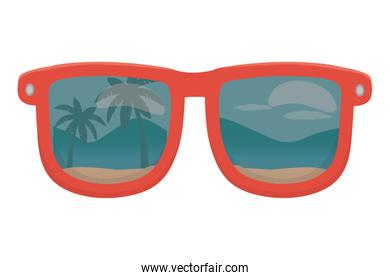 Isolated glasses design vector illustration