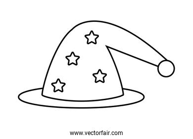 Isolated medieval and fantasy magician hat vector illustration