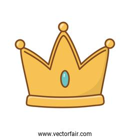 Isolated royal crown design vector illustration