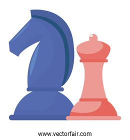 Isolated piece of chess design vector illustration
