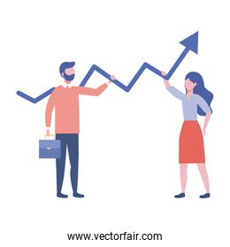 Businessman and businesswoman design vector illustration