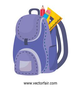 Isolated bag of school design vector illustration