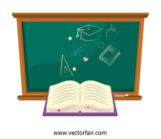 Isolated blackboard of school design vector illustration