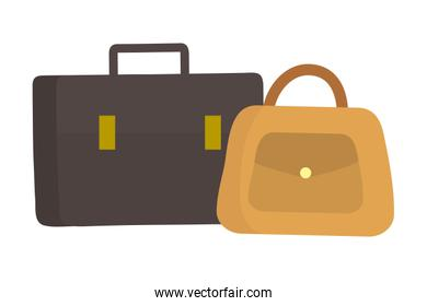 Isolated suitcase and bag icon