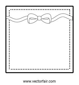 Isolated bowtie ribbon design vector illustration