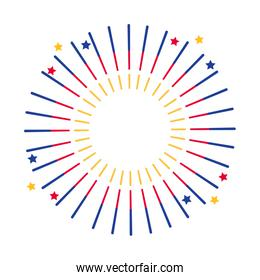 Isolated firework symbol design vector illustration
