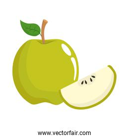 Isolated apple fruit design vector illustrator