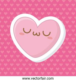 Kawaii of heart cartoon design