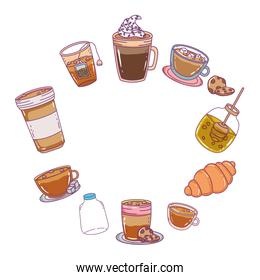Isolated bakery food design vector illustration