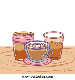 Isolated coffee mug and cup vector design