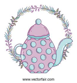 Isolated coffee pot vector design