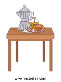 Isolated coffee maker vector design