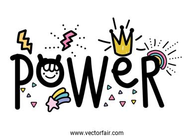 Isolated power word vector design