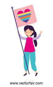 Woman supporting lgtbi march design