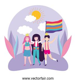 People supporting lgtbi march design