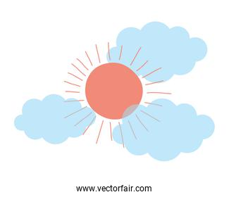 Isolated summer and abstract sun design vector illustration