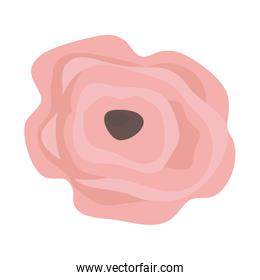 Isolated rustic flower vector design