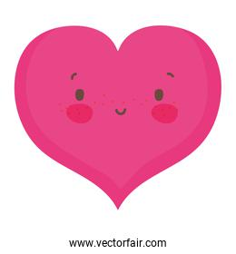 Isolated heart cartoon design vector illustration