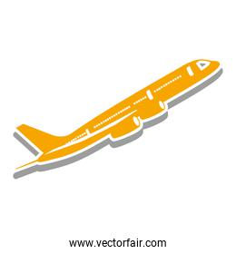 airplane isolated pictogram image