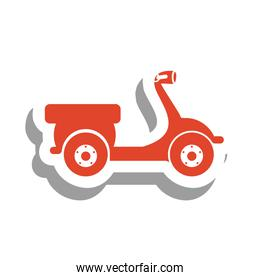 scooter bike pictogram icon image
