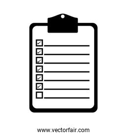 clipboard with checklist icon image