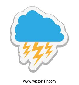 cloud with storm icon image