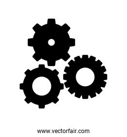 simple gears icon image