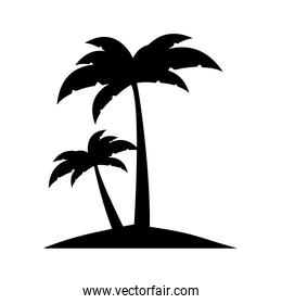 abstract island icon image over white