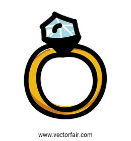 engagement ring cartoon icon image