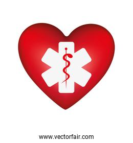 heart shape health care emblem icon image