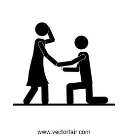 man and woman couple icon image