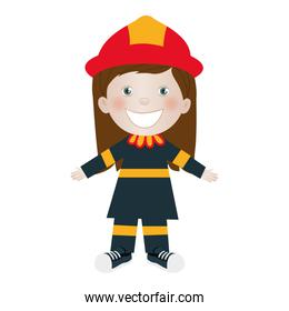 child dressed as firefighter icon image