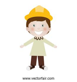 child dressed as engineer icon image