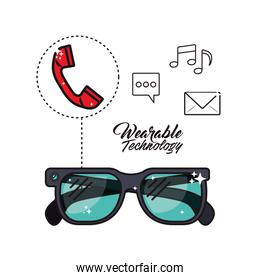 wearable technology smart glasses icon image
