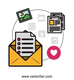 message envelope and communications related icons image