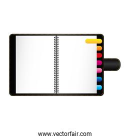 notebook with cover icon image