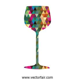 wine cup triangles mosaic  icons
