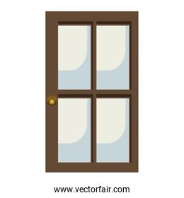 glass and wood door icon image
