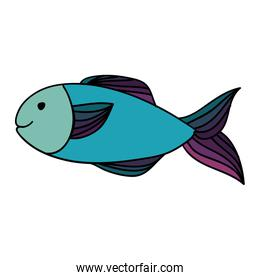 fish happy cartoon icon image