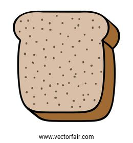 bread slice icon image