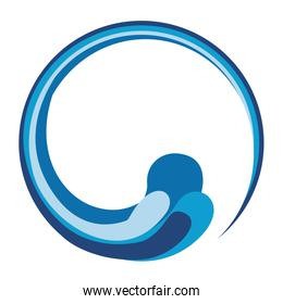 abstract water waves icon image