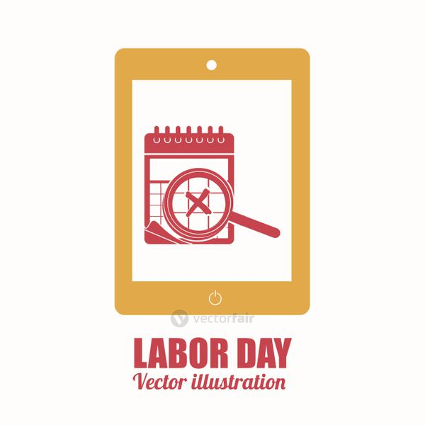 Labor day design over white background vector illustration