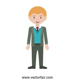 blond man with formal suit and bussines