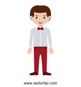 man with formal shirt and bowtie