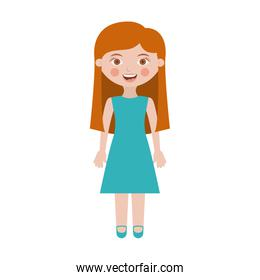 girl with dress and long hair