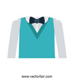 formal suit with bowtie and long sleeves