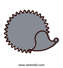 silhouette with hedgehog wild animal color