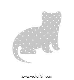 Pattern with nutria wild animal color