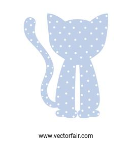 pattern with cat domestic animal color