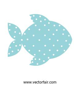 pattern with fish shape animal color